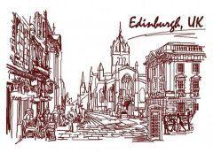 England, UK 2 embroidery design