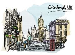 England, UK embroidery design