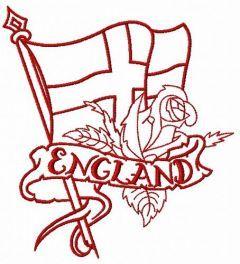 English flag 2 embroidery design