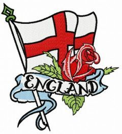 English flag embroidery design
