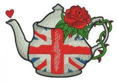 English tea time embroidery design