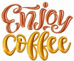 Enjoy coffee 2 embroidery design
