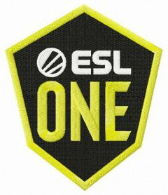 ESL One logo embroidery design