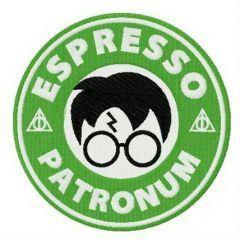 Espresso patronum embroidery design
