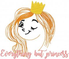 Everything but princess embroidery design