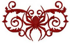 Exotic spider embroidery design