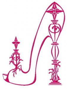 Extravagant high heels 2 embroidery design