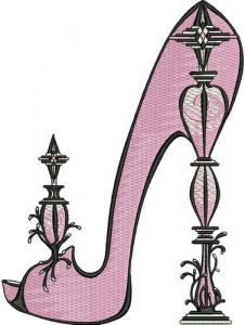 Extravagant high heels embroidery design
