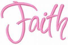 Faith 4 embroidery design
