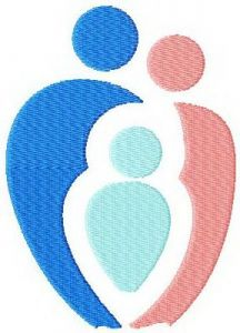 Family sport embroidery design