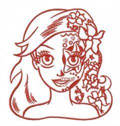 Fancy Ariel 2 embroidery design
