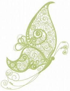 Fancy butterfly 6 embroidery design