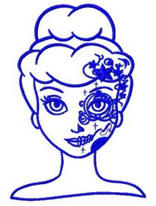 Fancy Cinderella 4 embroidery design