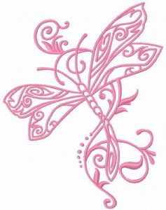 Fancy dragonfly 4 embroidery design