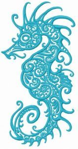 Fancy sea horse 2 embroidery design