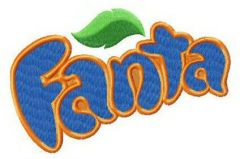 Fanta alternative logo embroidery design