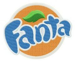 Fanta logo embroidery design