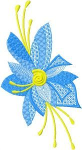 Fantastic Flower 4 embroidery design