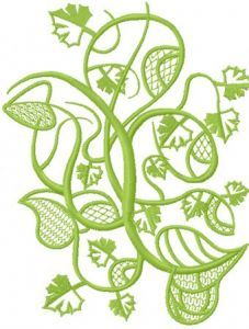 Wild ivy embroidery design
