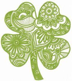 Fantasy clover embroidery design