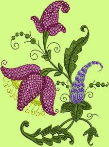Fantasy Flowers embroidery design