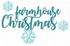 Farmhouse christmas embroidery design