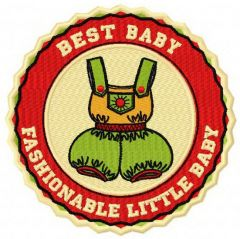 Fashionable little baby badge embroidery design