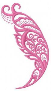 Feather 18 embroidery design