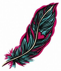 Feather 37 embroidery design
