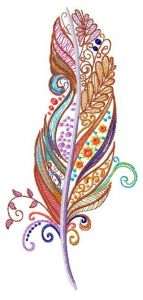 Feather 43 embroidery design
