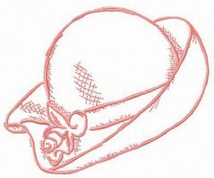 Female hat embroidery design
