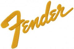 Fender logo embroidery design