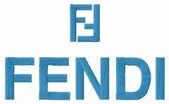 Fendi logo embroidery design