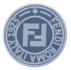 Fendi Roma Italy logo embroidery design