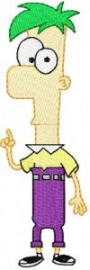 Ferb embroidery design
