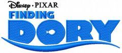 Finding Dory logo embroidery design