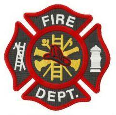 Fire Department Florian cross embroidery design