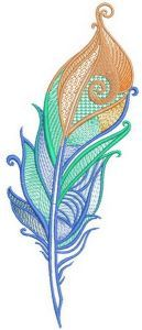 Firebird feather embroidery design