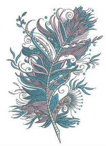 Firebird's feather embroidery design