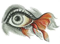 Fish eye embroidery design