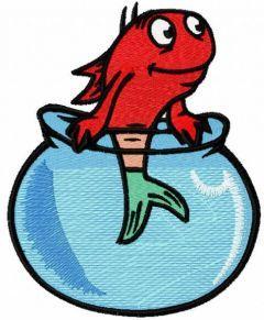 Fish in the aquarium embroidery design