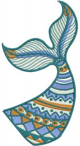 Fish tale embroidery design