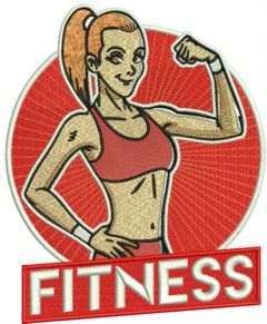 Fitness embroidery design