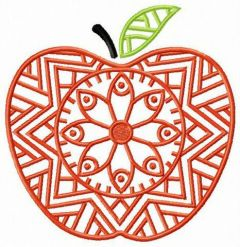 Floral apple embroidery design