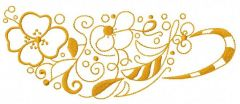 Floral cup embroidery design
