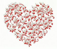 Floral heart 2 embroidery design