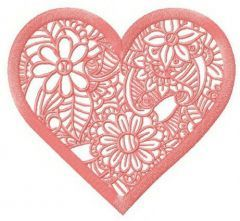 Floral lace doily embroidery design