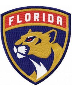 Florida Panthers logo embroidery design