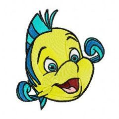 Flounder embroidery design