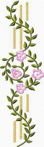 Flower Border 2 embroidery design